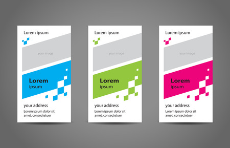 abstract creative business card colored template vector