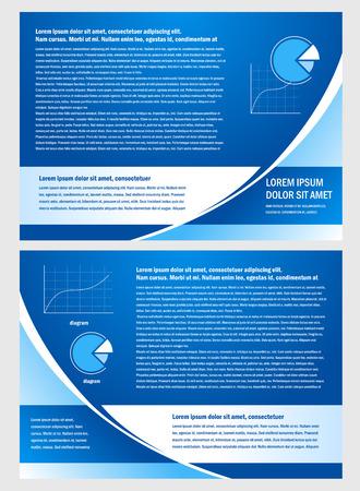 brochure folder info diagram design vector blue Vectores