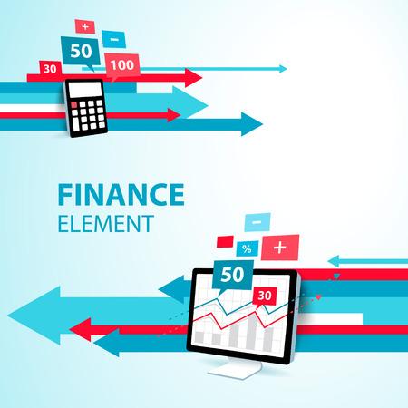 financieel element pijl display computer pc rekenmachine icoon blauw