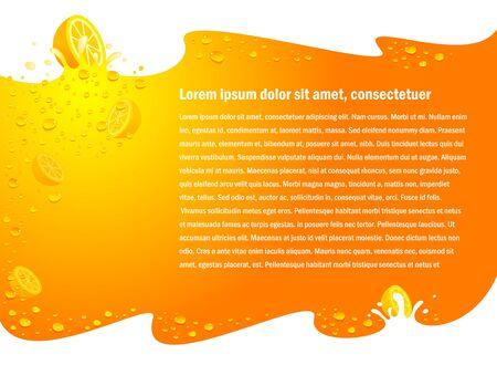 juice fruit drops liquid orange flyer background no transparent