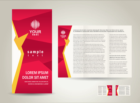Brochure folder ontwerp  cmyk, niet transparant
