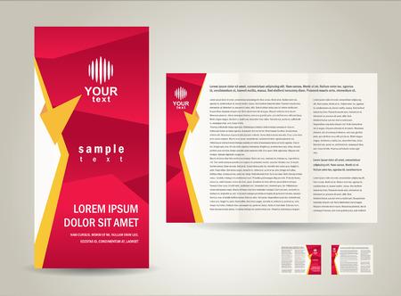 brochure folder design / cmyk, no transparent