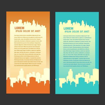stad achtergrond flyer