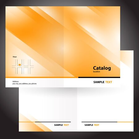 catalog booklet folder brochure colorful design vector orange Vectores