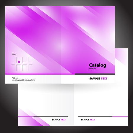 catalog booklet folder brochure colorful design vector pink Иллюстрация