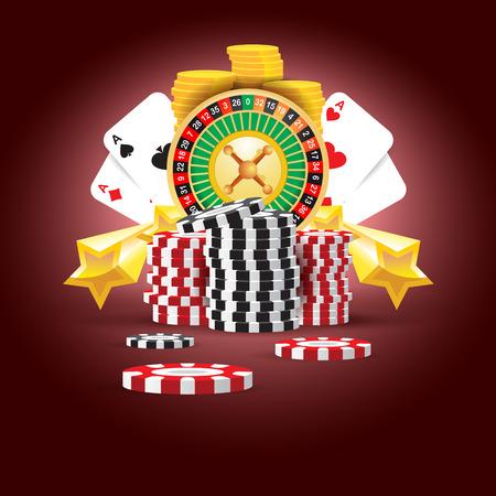 casino europese roulette geld kaarten spel rode zwarte achtergrond