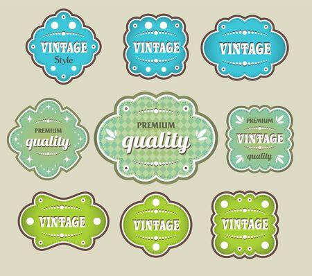 vintage labels retro style set Vectores