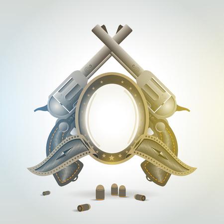 revolver gun weapon element emblem