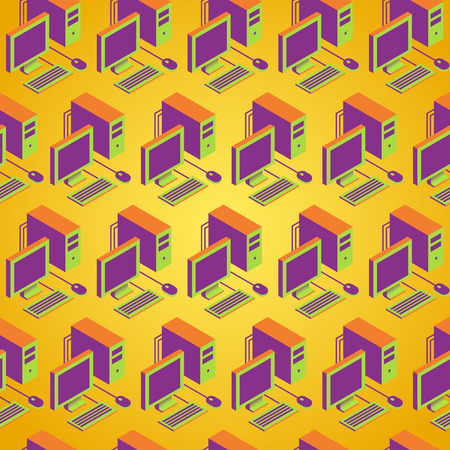 computer pc naadloos naast elkaar patroon achtergrond