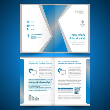 booklet catalog brochure folder origami geometric