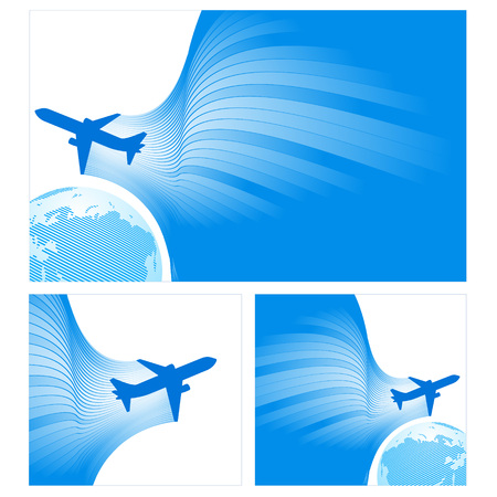 white fly: airplane flight tickets air fly cloud sky blue white color travel transtortation globe background