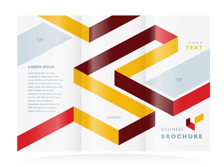 brochure ontwerp sjabloon Stock Illustratie