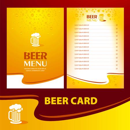 menu beer card / cmyk, no transparent Vectores