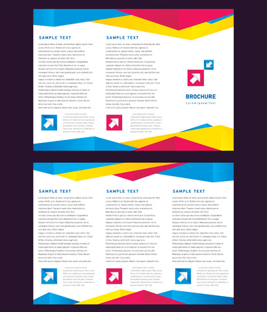creative design vector brochure Tri-fold Layout Design Template colorful polygonal triangles on white background