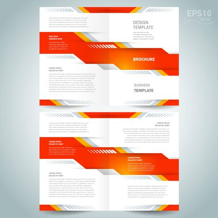 brochure design template vector booklet geometric abstract tech