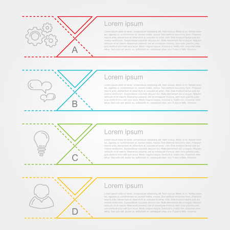 modern number list infographic banner Vectores