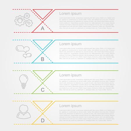 Moderne nummerlijst infographic banner Stock Illustratie