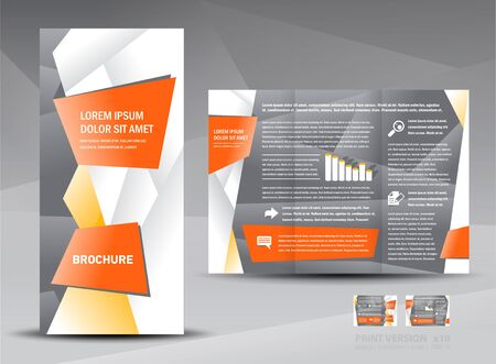 brochure origami element design