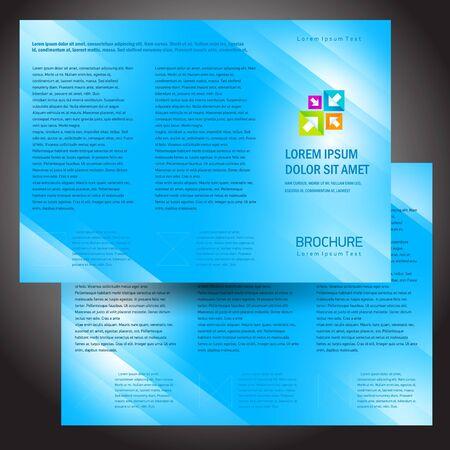brochure folder colorful design vector blue Vectores
