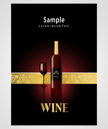 wine bottles: cover poster face wine red vine grape ornament