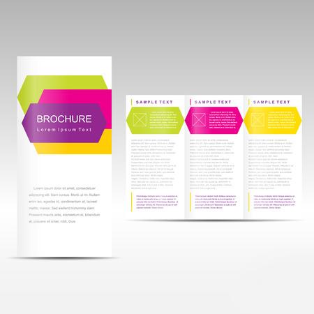 brochure gekleurde geometrisch abstract element Stock Illustratie