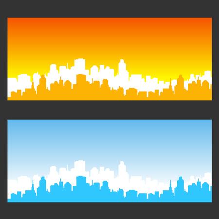 stad achtergrondkleur Stock Illustratie