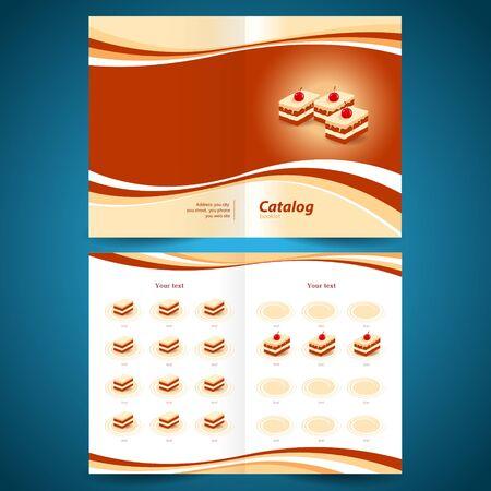 confection: catalog booklet brochure folder cakes dessert pastry confection Illustration