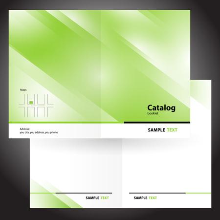 catalog booklet folder brochure colorful design vector green
