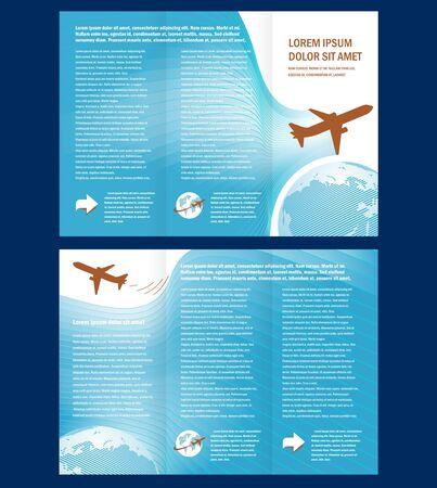 brochure vliegtuig vlucht tickets lucht vliegen wolk lucht blauwe witte kleur reizen transtortation wereld achtergrond