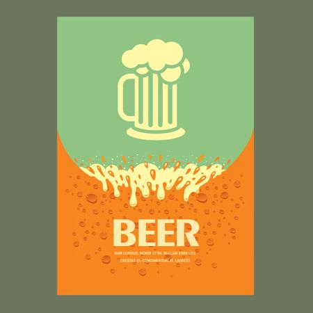 beer cover card menu splash Иллюстрация