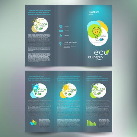 eco energie alternatief brochure folder leaflet Stock Illustratie