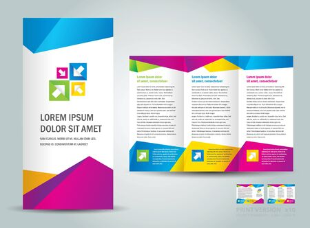 Brochure triangles low poly colorful
