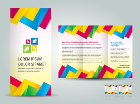 Kleurrijke brochuredriehoeken