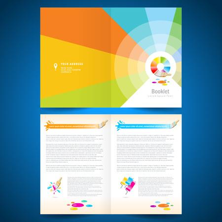 Booklet catalog brochure design template vector illustration set