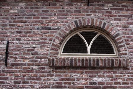 Traditional barn window Archivio Fotografico