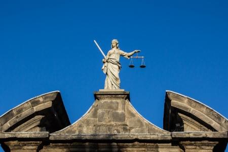 Justitie standbeeld in Dublin astle Stockfoto - 20392930