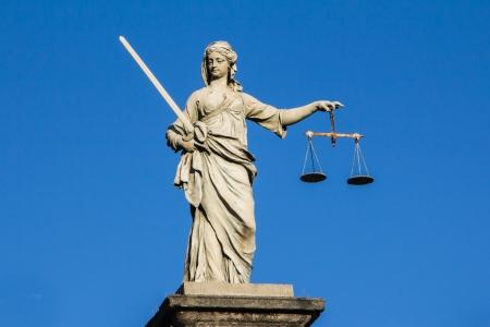 Justice statue at Dubline castle