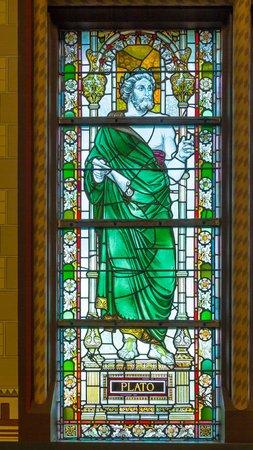 Window with Plato  Editorial