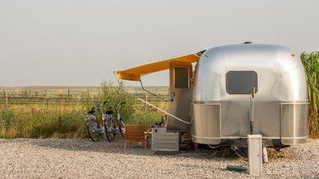 airstream: Vintage American Mobile home or caravan