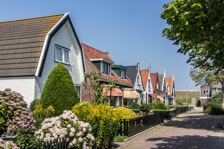 dutch typical: Typical Dutch fisherman houses on Texel