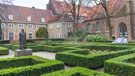 Statue of William the Silent of Orange in a public park in Delft Holland