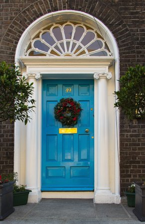 Colorful doors of Dublin Ireland