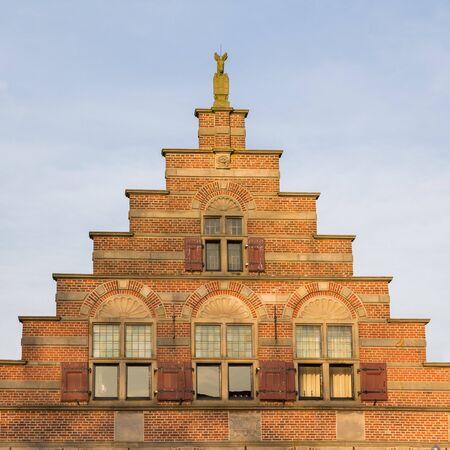 house gable: Historic Dutch gable house