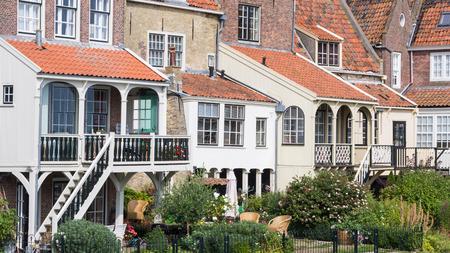 Oud Nederlands huis in Enkhuizen; een oude traditionele en toeristische fishermansvillage in het noorden van Holland