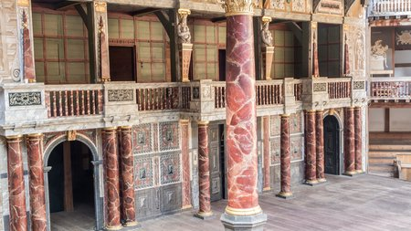 globe theatre: Shakespeare Globe theatre in London UK