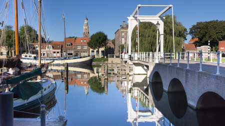 enkhuizen: Old historic harbor of Enkhuizen in Holland Editorial