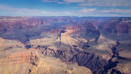 View from a helicopter on the Grand Canyon US Imagens