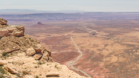 monument valley view: Aerial view on the deserts of Monument Valley US