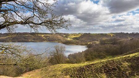 jutland: Landscape with a lake near Viborg in Jutland Denmark