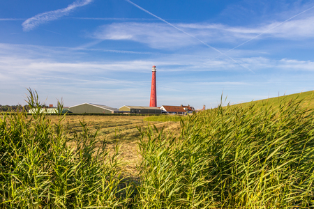 Lighthouse at the coast of Den Helder in Northern Holland